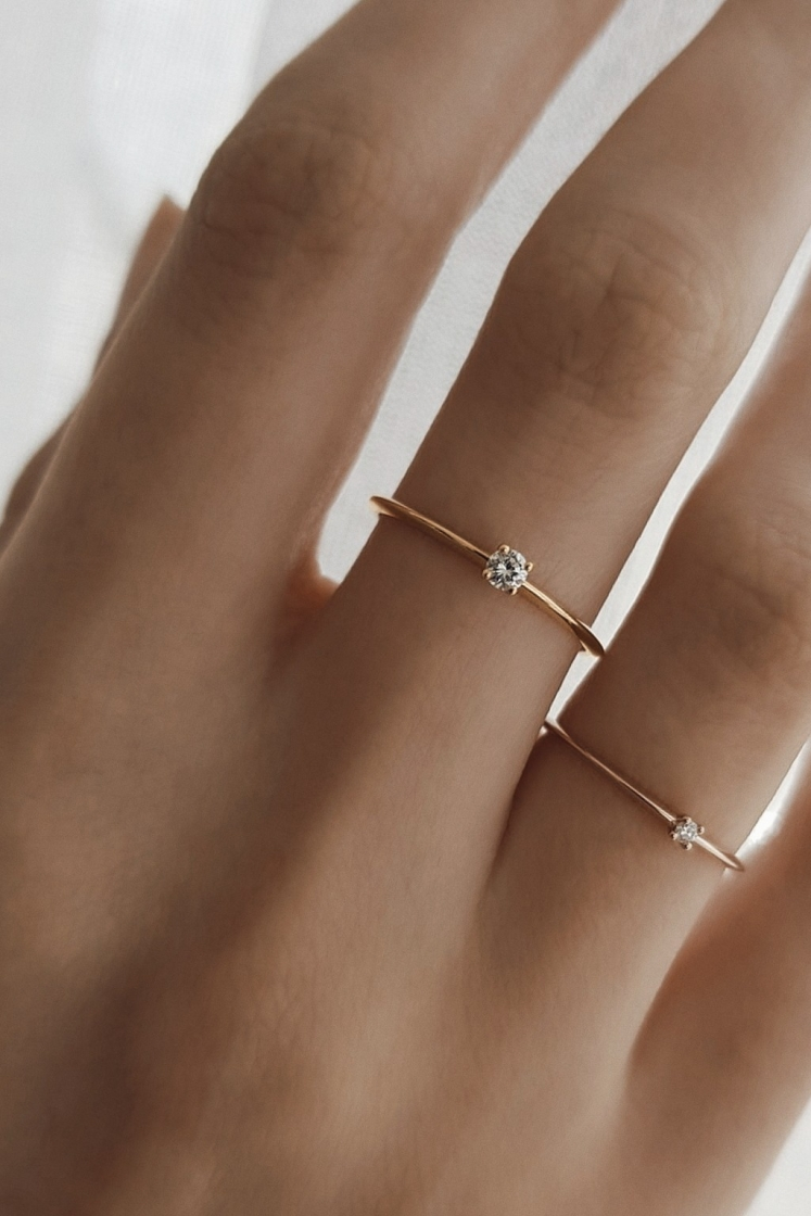 2'5 mm single Très-Or gold ring