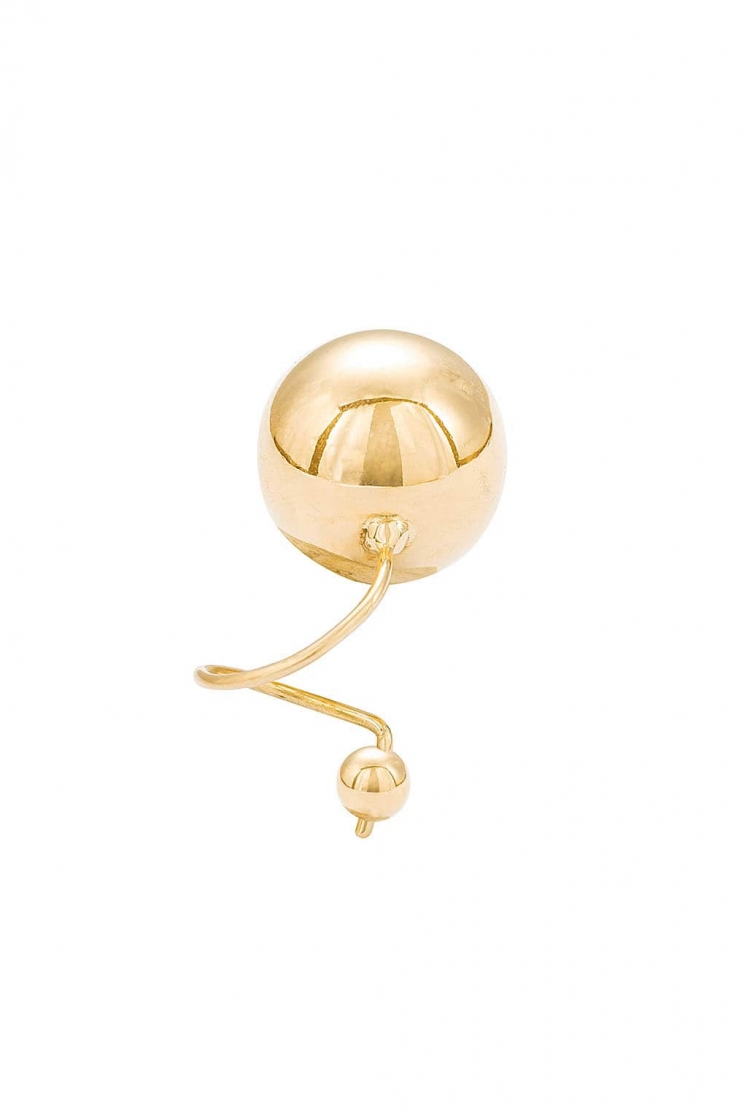 Double Sphere gold earring