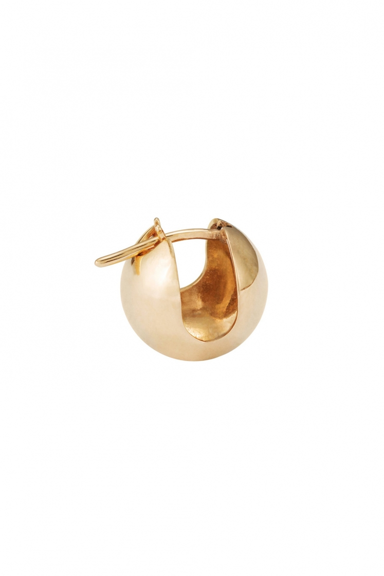 Sphere gold earring