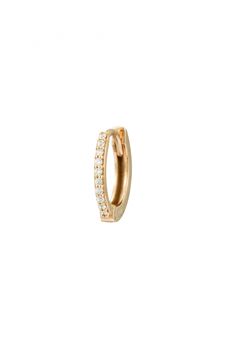 Half diamonds gold bangle