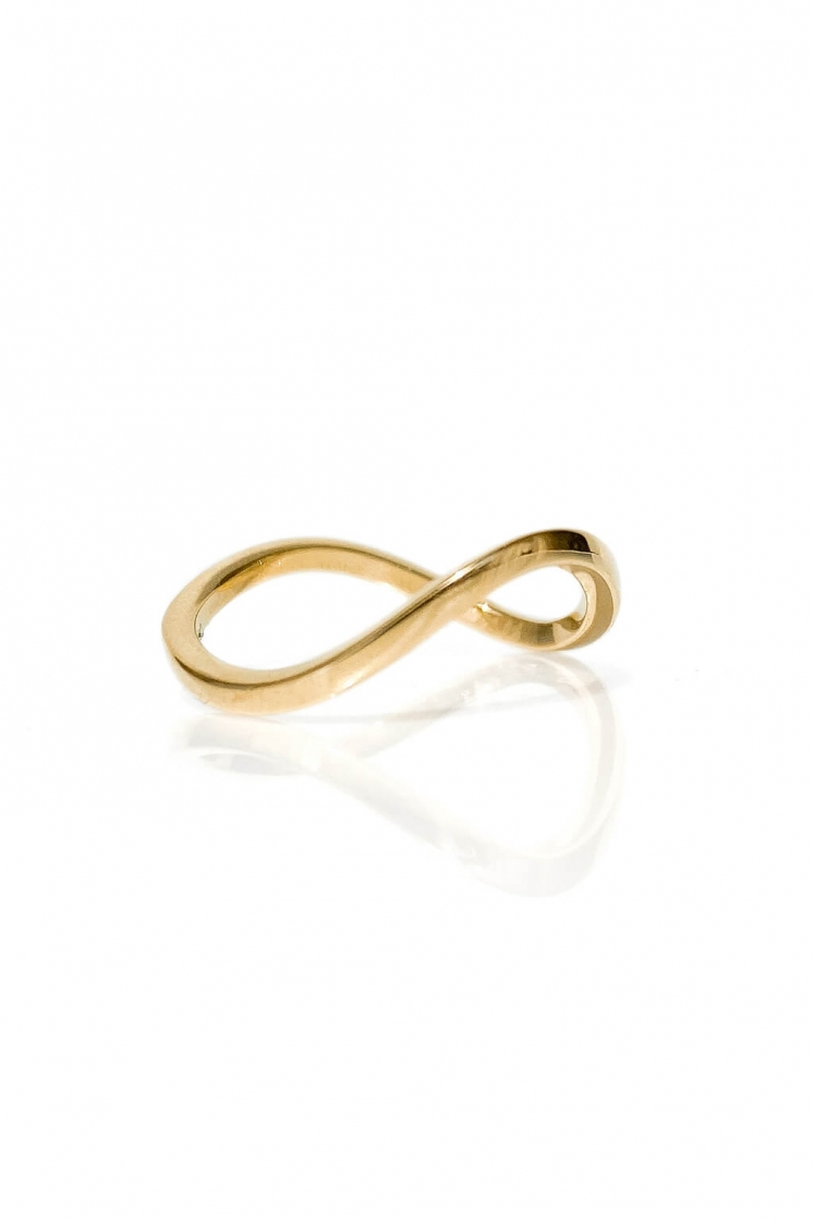 Wave 1'5 Squared Band gold ring