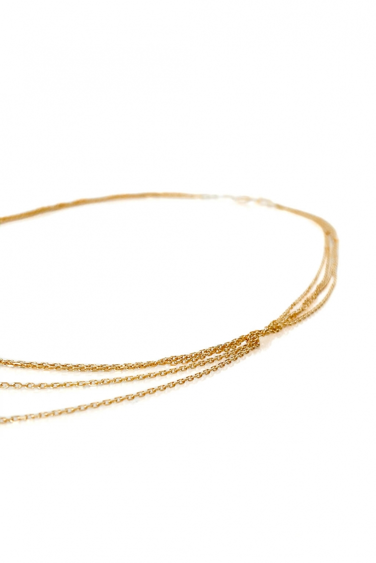 Three Chains gold necklace