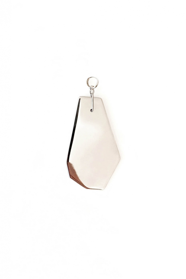 Sterling Silver Card pendant