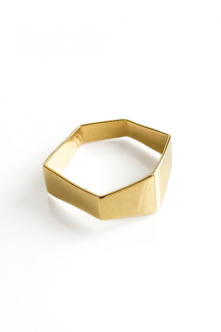 Irregular Signet gold ring