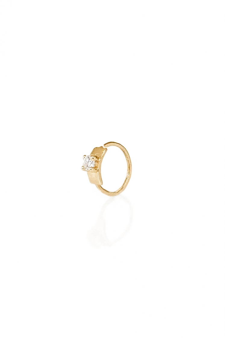 Extra Small Tag gold bangle for tragus