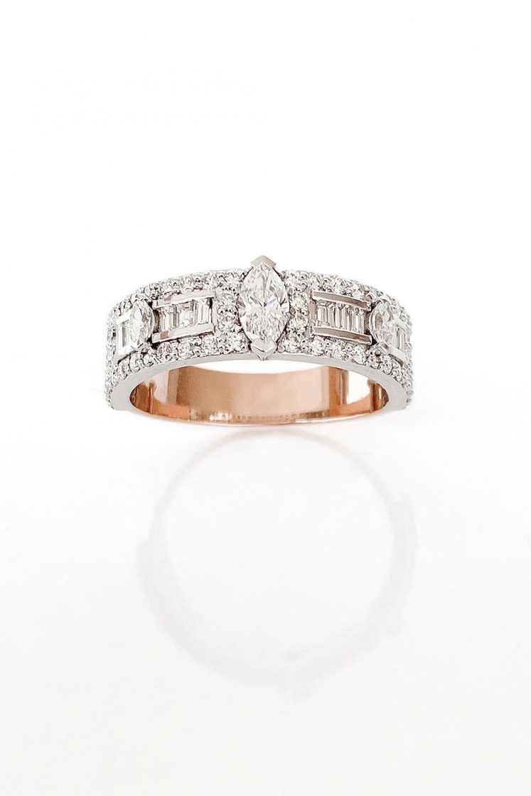 Second Wife Band diamonds ring