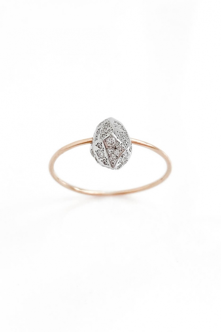 Rock III diamonds gold ring