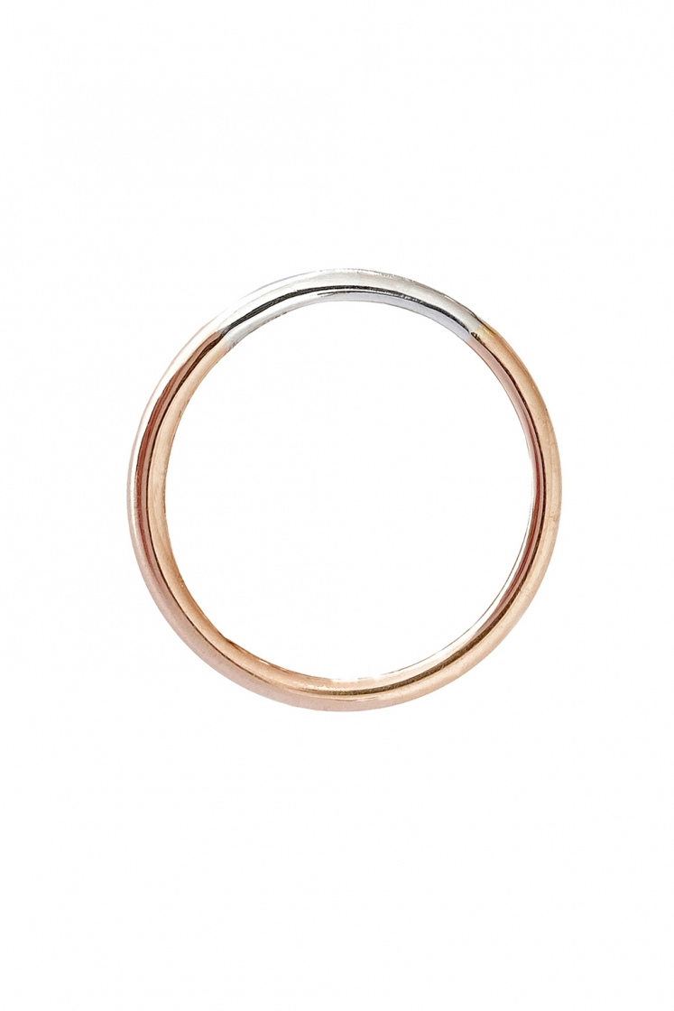 Rainbow 2 mm gold ring