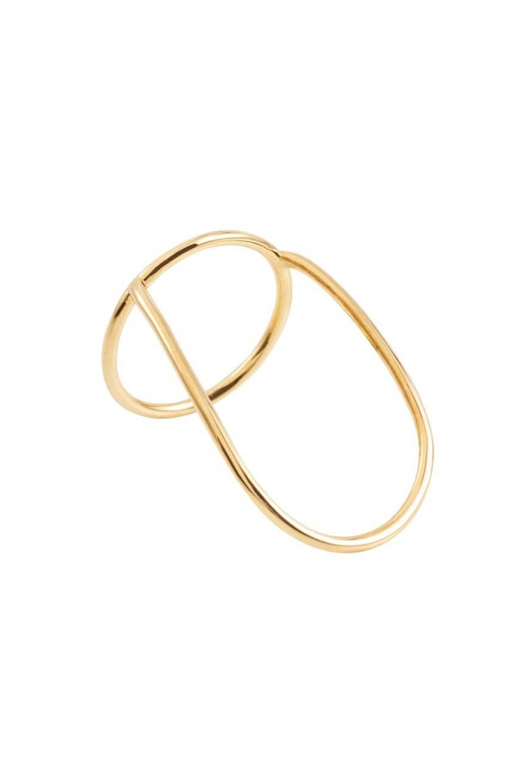 Shadow gold ring