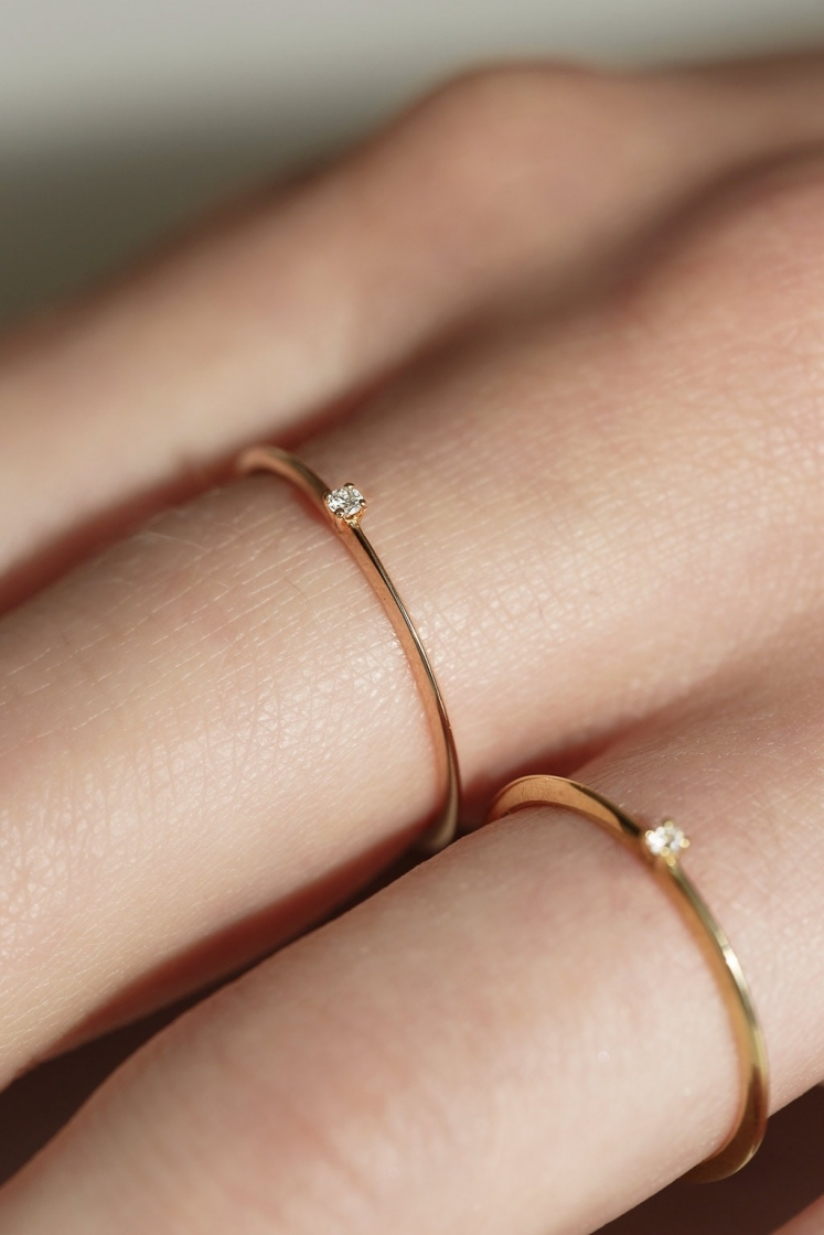 1'5 mm single Très-Or gold ring